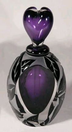 Perfume bottle - purple, black and clear