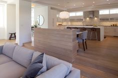 a step up to the dining and kitchen areas....