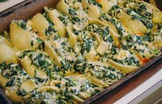 Spinach and Artichoke-stuffed Shells from @ Passionate Perseverence