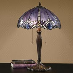 Iridescent Stained Glass Lamp