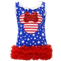 Fourth Of July Baby Outfit Baby Girl Outfit Baby Girl Dress 4th of July Outfit Girl First Birthday Dress Mini Mouse Dress Patriotic Outfit by AdassaBaby on Etsy