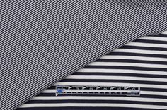 Mood Fabrics : New York Fashion Designer Discount Fabric | 301898 Navy Stripes Nautical Double-Faced Cotton-Blend Jersey