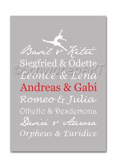 Bild: Kunstdruck Ballettpaare