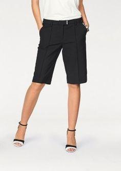 City Style Bermuda Shorts by Bruno Banani Elegante Shorts, Bruno Banani, Dressy Shorts, Knee Length Shorts, Short Suit, City Style, Black Women, Trousers, Black