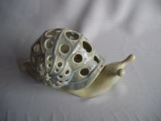 Ceramic Snail Luminary/Tea Light by SKCeramics on Etsy, $12.50