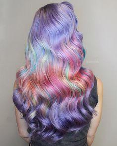 more pastel hair color ideas for you Bold Hair Color, Beautiful Hair Color, Bright Hair, Hair Colorful, Pelo Multicolor, Color Fantasia, Pulp Riot Hair Color, Ombre Blond, Hair Colors