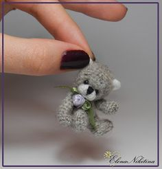 мини-мишка - Tiny amigurumi crochet bear (Inspiration).