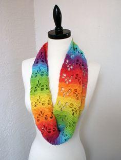 Heart Lace Infinity Scarf By Deja Jetmir - Purchased Crochet Pattern - (ravelry)