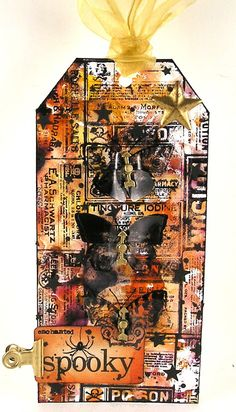 Suzz's Stamping Spot: Spooky Butterflies? Tim Holtz 12 tags of 2015 - September…