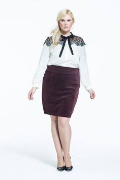 at MYNT 1792 white with black lace and bow detailing blouse