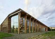 Graham Baba Architects took cues from rural vernacular architecture while conceiving the headquarters for the Washington Fruit and Produce Company. Architecture Design, Office Building Architecture, Timber Architecture, Vernacular Architecture, Facade Design, Building Exterior, Building Design, Building Ideas, Design Design