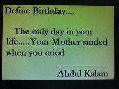 Define Birthday.. The Only Day