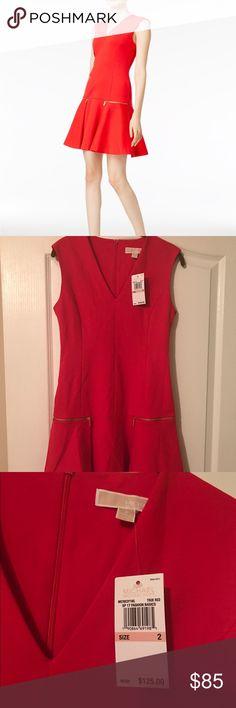 NWT Michael Kors Drop Waist Dress Sz 2 Size 2. Brand new. Too small for me. Red Michael Kors Drop waist fit and flare dress. MICHAEL Michael Kors Dresses Mini