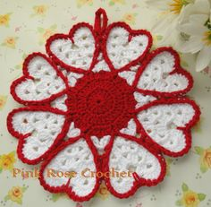 layerdip Sugar and Cream Potholder - Free Crochet Potholder Pattern Sugar Crochet Potholder Patterns, Crochet Dishcloths, Crochet Motif, Crochet Flowers, Crochet Chain, Double Crochet, Motif Vintage, Vintage Crochet, Crochet Home