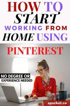 Here's a beginner's guide on how to start working from home especially when you have zero idea! No degree or experience needed! Work From Home Tips, Money From Home, Way To Make Money, Make Money Online, Job Work, Selling On Pinterest, Pinterest For Business, Virtual Assistant, Online Work