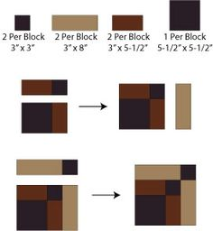 Bonnie Scotsman Quilt Block Pattern: Option 1: Assemble the Bonnie Scotsman Quilt Block Patch-by-Patch
