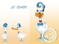 Figura de Le Quack, un pato francés estafador y posiblemente pirómano que engaña a la personas haciéndose pasar a veces por otras personas. Figura de 6 cm aprox. Hecha totalmente a mano. Materiales: arcilla polimérica FIMO. Cinderella, Disney Characters, Fictional Characters, Disney Princess, Art, 4 Years, Party, Polymer Clay, Presents