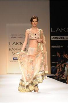 Payal Singhal Bridal Collection : BLUSH ZARDOSI & CRYSTAL LEHENGA