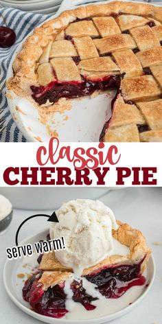 A good old-fashioned Cherry Pie is hard to beat. Full of real cherries and just a touch of cinnamon spice, this is the BEST Cherry Pie recipe you will ever make!