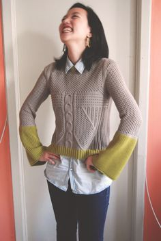 Marines Padilla | New York knitwear designer | the sleeves, rib and colour blocking are amazing