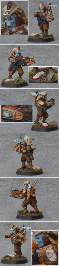 Tau Shas'Ui Pathfinder. I LOVE how he has his helmet lifted but not completely off.