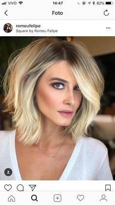 Short bob hairstyles have always been popular. Nowadays, hairstyle art is pursuing a more natural appearance. Simple, natural and energetic. So, what kind of short Bob hairstyle meets these requirements? Cute Hairstyles For Medium Hair, Short Bob Hairstyles, Medium Hair Styles, Curly Hair Styles, Bob Haircuts, Blonde Haircuts, Formal Hairstyles, Easy Hairstyles, Girl Hairstyles