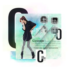 """""""C is for Courage"""" by kaorikuro ❤ liked on Polyvore featuring arte"""