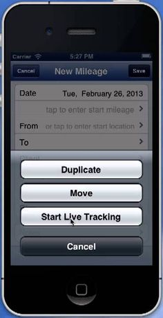 iphone mileage tracking app