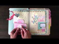 april memory file album adventure ~ jamie pate for heidi swapp - YouTube