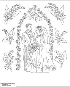 wedding embroidery pattern