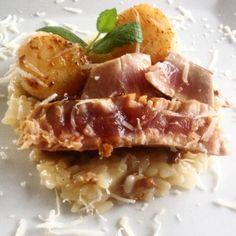 Risotto med tonfisk och pilgrimsmussla