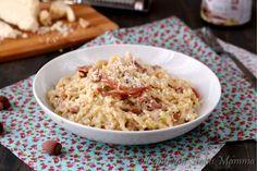Pasta+con+pesto+di+nocciole+e+speck