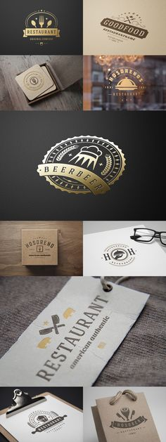 Restaurant Logo Logotypes and Badges Collection Vector Download