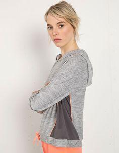 Bershka Netherlands - Sport-sweatshirt Bershka met capuchon
