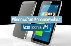 Acer Iconia W4 tablet modeli Windows işletim sisteminden kopamayanlar için güzel bir alternatif. Konu işlevselliğe geldiği zaman Windows ile senkronize çalışmasıyla dikkat çeken Acer Iconia W4 tabletin detayları incelememizde.