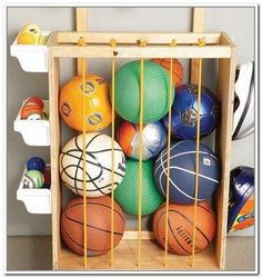 Homemade Sport Equipment Storage Ideas | Homemade Sports Equipment Storage
