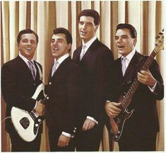 A professional photograph of The original Four Seasons shows Tommy DeVito…