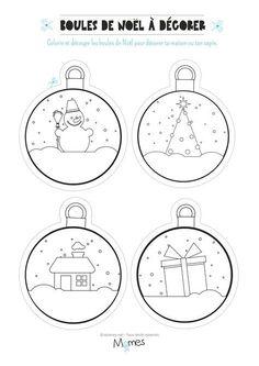 Christmas balls to color and print Christmas Balls, Christmas Colors, Christmas Holidays, Christmas Crafts, Christmas Ornaments, Christmas Ideas, Christmas Activities, Christmas Printables, Candy Christmas Decorations