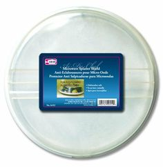 """Al-de-chef Microwave Splatter Shield by Symak. $8.00. Microwave splatter shield. Dishwasher Safe. Fits up to a 10"""" plate or bowl 2 vent holes"""