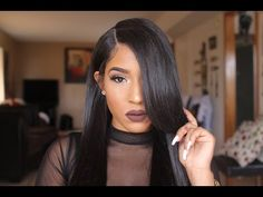 How to lay your wig with UNRELAXED EDGES - YouTube