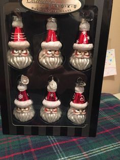 Christopher Radko Celebrations  Santas Christmas Ornaments Absolutely Adorable!!