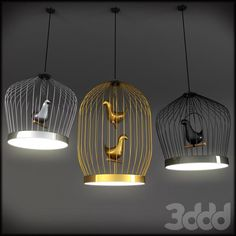 3d модели: Люстры - Tweety-LED pendant lamp