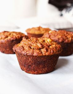 Clean Eating Peanut Butter Banana Muffins - An easy clean eating breakfast recipe!