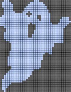 Ghost Halloween perler bead pattern