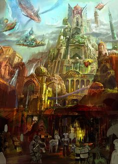 Fantatic cities from Cecil Kim and monsters to destroy them