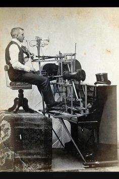 One man band. Detroit 1890 My mother used to say that if you were tooting you own horn...you were playing to the sound of a one man band...still true today I think