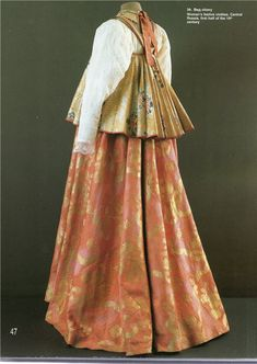 Woman's festive clothes, first half oh the ce. Russian Beauty, Russian Fashion, Historical Costume, Historical Clothing, Russian Culture, Russian Folk, Folk Fashion, Women's Fashion, Folk Costume