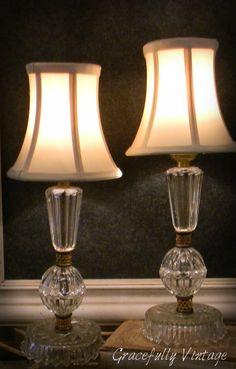 Darling Pair of Crystal Lamps