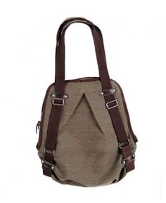 Brown Canvas Backpack and Shoulder Bag $31.30