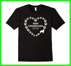 Mens New Foundland Mom Women's Dog Gift T-Shirt Large Black - Animal shirts (*Amazon Partner-Link)